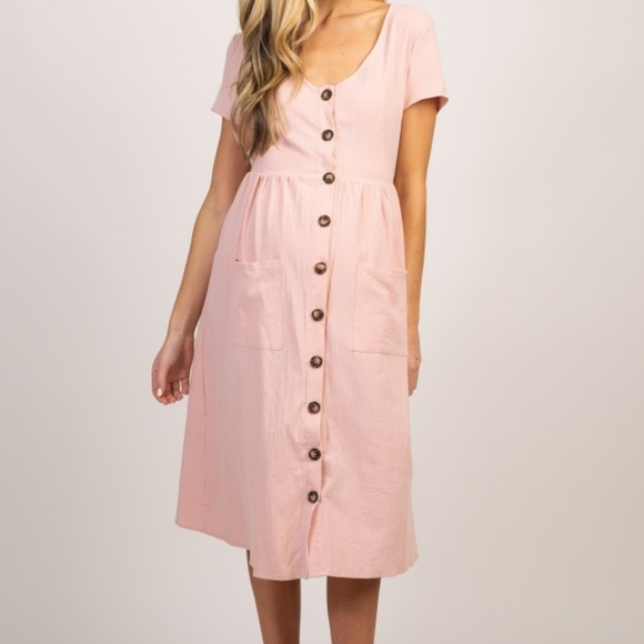 Pinkblush Dresses & Skirts - NWT Pinkblush Button Front Maternity Midi Dress L